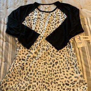 Lularoe Randy Snow Leopard XL NWT